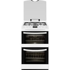Zanussi ZCG43200WA Freestanding 55cm White Double Oven Gas Cooker with FSD