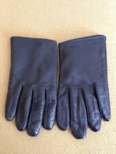Used Leather Woman Gloves Size M Sisley Brand