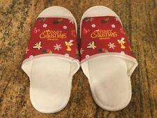 NWOT Disney Christmas Disneyland Hong Kong Hotel Guest Slippers
