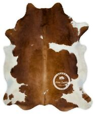 Cowhide Rug - Brown and White High Quality Hair on Hide Size: Large (L)A118