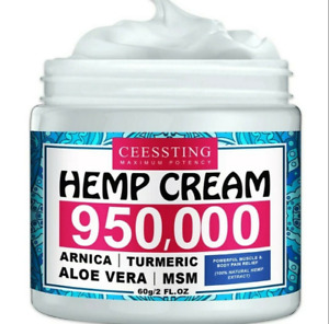 Hemp Arnica Cream 950000mg Anti-Inflammation Relieve Joint Pain Relief 60g 2oz