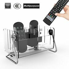 House Remote Control Holder Organizer Caddy Metal TV Storage 6 Case End Table
