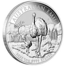 Australien 1 Dollar 2021 Australischer Emu Premium-Anlagemünze - 1 Oz Silber ST
