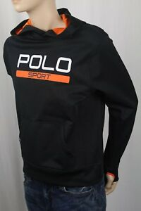 Polo Ralph Lauren Sport Kids Black Athletic Hoodie NWT