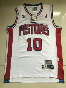 New Dennis Rodman Detroit Pistons White Throwback Swingman Jersey Size S-XXL