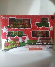 Disney Mickey Mouse Holiday Express 12 Piece Christmas Train Set NEW!
