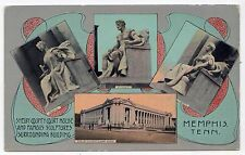 EARLY MEMPHIS TENNESSEE PC Postcard SHELBY COUNTY COURT HOUSE TN Kress SCULPTURE