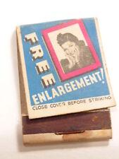 Old advertising match book:Hollywood Film Studios film develop/ enlargement