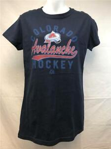 New Colorado Avalanche Womens Size M-L Blue Majestic Shirt MSRP