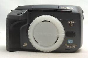 @ Ship in 24 Hours @ Rare Black @ Minolta Vectis S-1 IX Date APS Film SLR Camera