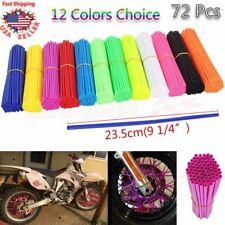 Universal 72 Pcs Wheel Spoke Wrap Skin Coat Trim Cover PiPe Motorcycke Dirt Bike