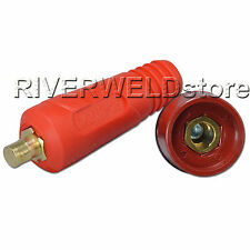 TIG Quick Cable Panel Connector Socket DKJ10-25 & DKZ10-25 Dinse-Style Red Color