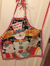 Adult Cotton Christmas Apron Made From A Fabric Panel