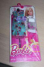 Barbie outfit ensemble vêtement pack robe bleue - blue dress Edition Mattel 2015