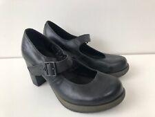 Dr. Martens Mary Jane heel shoes UK7 EU41 US9 buckle marlena black Faulty Heel