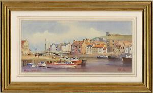 Ken W. Burton (b.1946) - Contemporary Watercolour, Whitby, Yorkshire