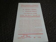More details for st.patrick's athletic  v  shamrock rovers  1954/5 ~ march 20th  ireland  vintage