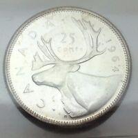 1964 Canada 25 Twenty Five Cents Quarter Canadian Graded ICCS Coin C617