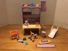 Barbie Doll Sister Kelly Bedroom Playset Set 2001 by Mattel All Around Home