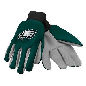 Philadelphia Eagles Gloves Sports Logo Utility Work Garden NEW Colored Palm