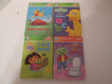 Leap Frog Leapfrog Tag Junior Jr Lot 4 Books Dora Leap's New Potty Big Bird ABC