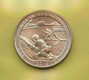 2019 W War in the Pacific - Guam Quarter from West Point Mint