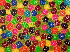"""tableau art abstrait moderne contemporain """" désordre de fleurs""""60X80 CM  SIGNE"""