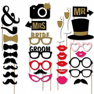 30pcs Henne Party Requisiten Fotokabine Slefie Spaß Nacht Spiele Wedding Zubehör