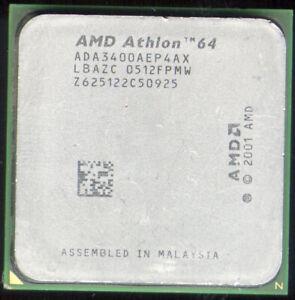 AMD Athlon 64 3400+ CPU 2.4GHz Socket 754 ada3400aep4ax
