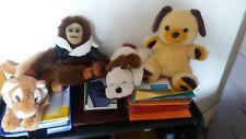 stock 5 peluches,orsetto,leoncino,scimpanze',cagnolino,bambola morbida - 29 euro