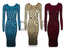 Viscose Crew Neck Long Sleeve Formal Dresses for Women