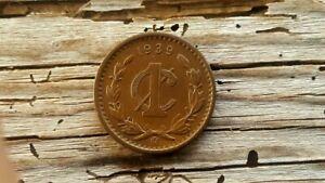 Bronze 1 Centavo Mexico 1939