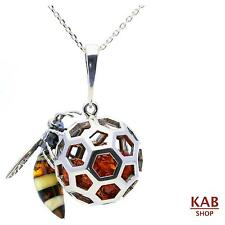BALTIC AMBER STERLING SILVER 925 BEAUTY PENDANT BIG BEAUTYFUL , KAB-255