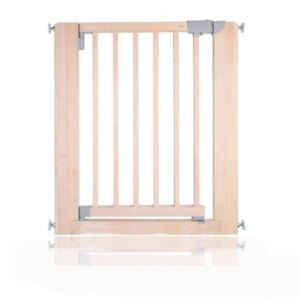 Safetots Chunky Wooden Pressure Fit Stair Gate No Screw Baby Gate 74-81cm