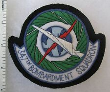 347th BOMB SQUADRON US AIR FORCE SAC POCKET PATCH Custom Hand Sewn for VETERANS