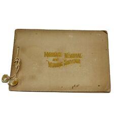 Ephemera! 1895,Rev Salem D. Town Antique Marriage Memorial Wedding Souvenir Book