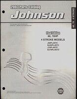 2003 JOHNSON OUTBOARD PARTS MANUAL 60, 70 HP / 4 STROKE