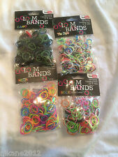 LOOM BANDS TOYS ELASTIC KNOTTING TOOL S CLIPS FREE POST NEW CRAZE NEON RAINBOW