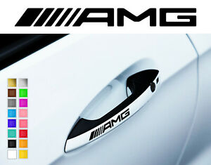 x2 handle decals fits AMG MERCEDES CAR STICKER DECAL LOGO DECOR RACING VINYL