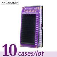 False mink eyelashes extension individual high quality NAGARAKU 10 cases/lot
