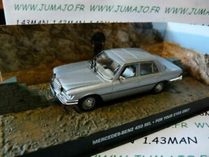 JB120 voiture 1/43 IXO 007 JAMES BOND Mercedes Benz 450 SEL For your eyes only