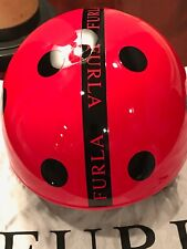 Furla Fashionable Women Helmet Red/Black - New - Italy