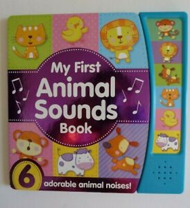 Noisy Baby - My First Animal Sound Book With 6 animal noises Ages 0 Month+ New