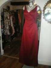 NEW RRP £120 Jim Hjelm DARK RED Dress Gown Prom Ball Wedding Bridesmaid SZ 10/12