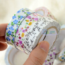 Colorful Floral Fabric Tape Washi Masking Tape Decorative DIY Tape Stickers HOT