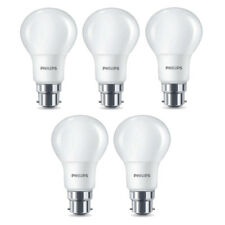 5x Philips LED Frosted B22 60w Warm White Bayonet Cap Light Bulbs Lamp 806 Lm