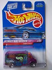 HOT WHEELS  1999 Street Art Series - Purple AMBULANCE - #951 - 3 spoke wheels