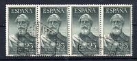 Spain 1953 25p Air Strip of 4 fine used SG1191 Cat Val £180 WS19685