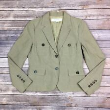 Zara Women's Medium Tan Beige Khaki Cargo 2 Button Cropped Blazer Jacket