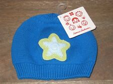 NWT Hanna Andersson Baby Boys Hat, Blue w/ Green Star. XS 3 6 9 12 (3-12 months)